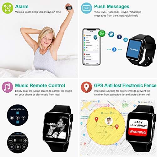 Montre Connectée, Bluetooth Smartwatch Android Montre à écran Tactile Montre Intelligente Montre...
