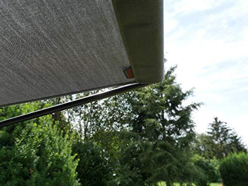 Angerer Sonnendach für Hollywoodschaukel Draltex, dunkelgrau, 210 x 145 cm, 820/43