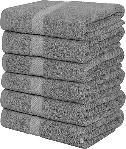 Utopia Towels Medium Cotton Towels, Gray, 24 x 48 Inches Towels for...