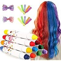 Tiza para el Cabello,10 colores No Tóxico Lavable Tinte Temporal Capilares para La Edad 4 5 6 Plus Niños Regalos Perfectos para el Carnaval,Cumpleaños,Festival