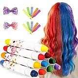 Haarkreide,Auswaschbar Haarkreide Temporäre Haarfarbe, 10 Kinder Haarkreide Set mit...