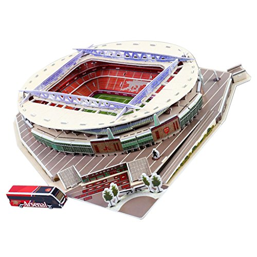 chiwanji 3D Munich Allianz Football Field Model Puzzle Self Assembled Adults Hobby show, Emirates Stadium