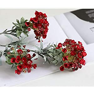 Artificial and Dried Flower Artificial Flower Bud Flower Branch Simulation Plant Fragrant Sweet Alyssum Snowball Home Shop Table Wedding Decoration