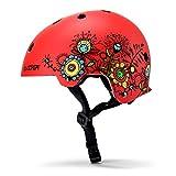 Wildken Kinder Skihelm Karikatur Edition, Leichter Snowboardhelm mit 11 Luftausgangsschlitzen ABS-Schale und EPS-Innenschaum Race-Helm for Snowboarding Skiing Fahrrad Scooter Roller (Rot)