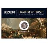 IMPACTO COLECCIONABLES Moneda Antigua Original - Monedas Romanas - Constantino I. El Primer Emperador Cristiano. Follis de Bronce