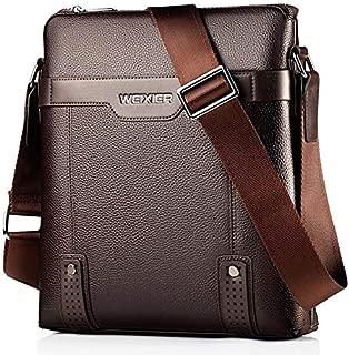 QGTAU Bags 18067 Men Leisure Style PU Leather Single Shoulder Bag (Black) (Color : Brown)