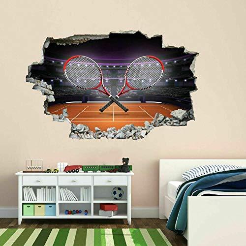 HUJL Muursticker Tennisrackets Klei Muursticker Muurschildering Sticker Kids Slaapkamer Home Decor BH6