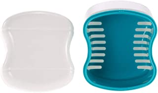 Quitar Manchas de Higiene Oral Estuche for caja de baño for dentadura Dental falsos dentales Limpieza de contenedores Enjuague de la cesta Retenedor Aparato Bandeja de soporte para La Higiene Oral Lim
