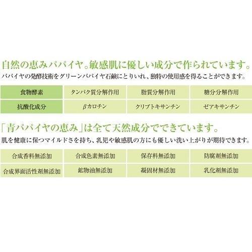 三旺インターナショナル『パパイヤソープ青パパイヤの恵み』
