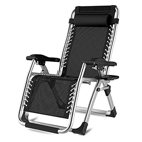 WUYANJUN Silla de recreo, sillas de tumbonas de Gravedad Cero, sillas de césped del Patio, sillas de Cena Ajustable reclinable para Cubierta de Patio Patio Patio