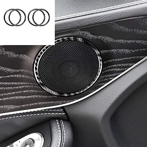 Buy AUTO Pro for Mercedes-Benz C-Class W205 C180 GLC True Carbon Fiber Horn Door Speaker Decoration ...