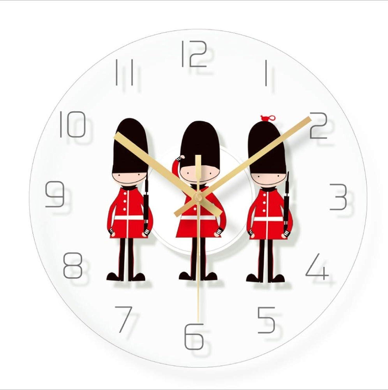 CLOCKZSQ Reloj De Parojo De Cristal De Estilo Nórdico Números Arábigos Mute Diseo Minimalista Moderno Conveniente para La Sala De Estar Relojes Domésticos