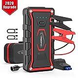 YABER Avviatore Batteria per Moto/Auto, 1600A 20000mAh Avviatore Emergenza per Auto (Adatto a Tutti i Veicoli a Benzina o 7.0L Diesel) Impermeabile IP68 Jump Starter Booster con QC 3.0 e Tipo C