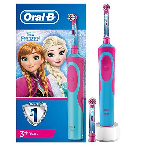 Oral-B Kids Oplaadbare Elektrische Tandenborstel Voor Kinderen Met Disneyfiguren Frozen, 1 Handvat, Opzetborstel x2