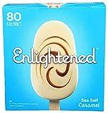 Enlightened Sea Salt Caramel Ice Cream Bar, 3.75 Fluid Ounce - 4 count per pack -- 8 packs per case.