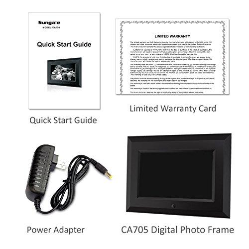 Sungale CA705 7-Inch Digital Photo Frame (Black)