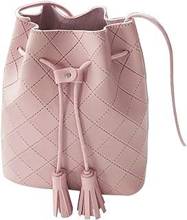Fanspack Womens Bucket Bag Tassel Shoulder Bag Fashion Drawstring Crossbody Bag