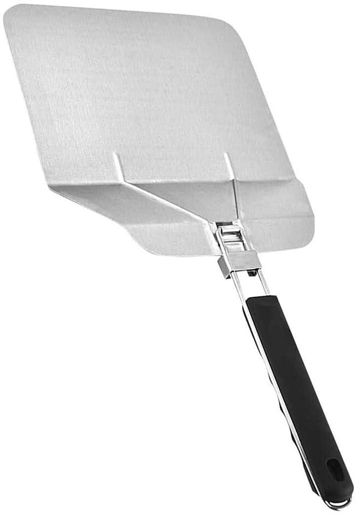 保存有用韻TRYSHA 折りたたみ耐熱ハンドルケーキリフターシャベルキッチンツールを使用してステンレスピザピールヘラ へらセット