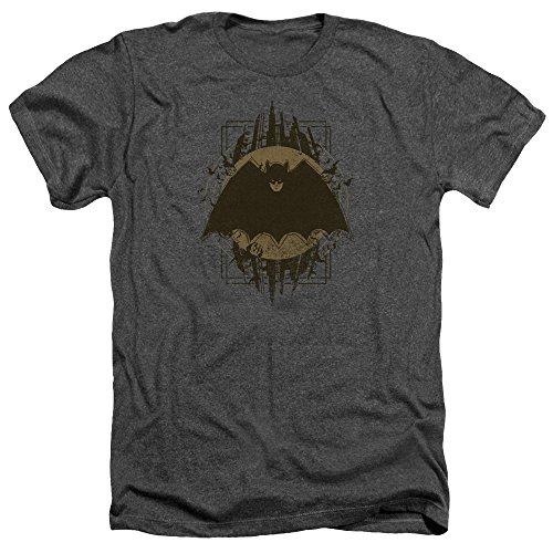Batman Batman Wappen für Erwachsene, Grau/Anthrazit - Schwarz - Klein