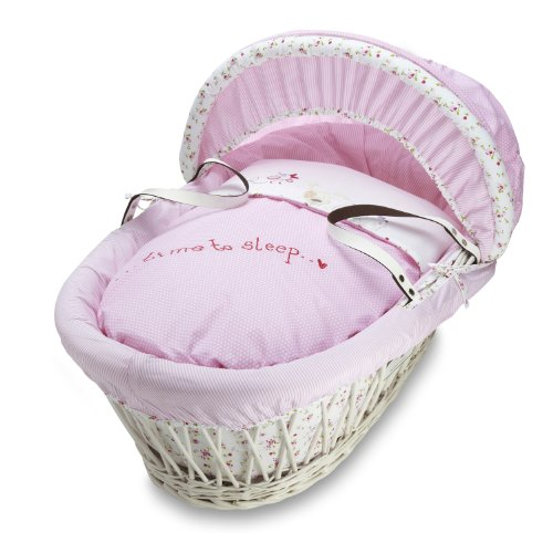 Izziwotnot Panier couffin pour bébé blanc à fleurs