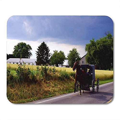 Mauspad Buggy Amish Family Racing Der Sturm Simuliertes Öl Auf Wetter Rutschfestes Mousepad-Spiel 25 X 30 Cm Mousepad Office Mouse Mat Arbeit Gedruckte Bunte Sonderschule