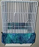 Penn Seed Seed Guard and Catcher Bird Cage Skirt - Turquoise & Blue Blend (Large (50'-100' Cage Circumference))