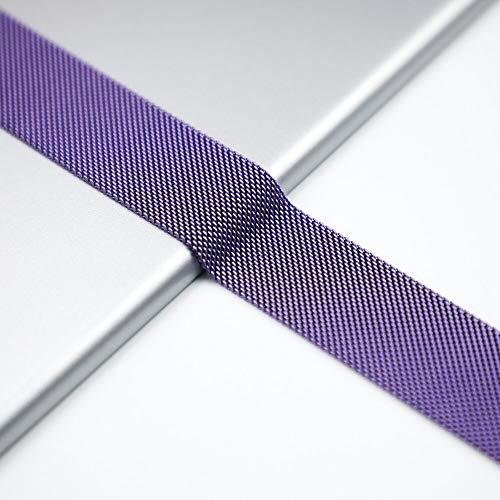 NO BRANDED Bands For Watch Strap Series 5 4 3 Milanese Loop Iwatch Band 44mm 40mm 42mm 38mm Stainless Steel Bracelet Lavender