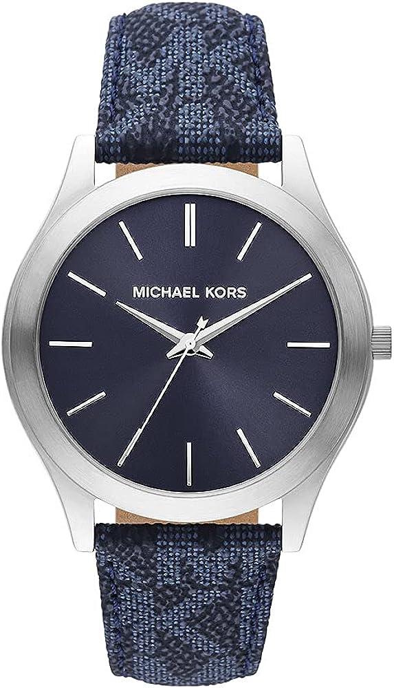 Reloj Slim Runway para hombre, de Michael Kors de acero inoxidable y con tres agujas, MK8907