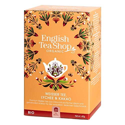 English Tea Shop - Weißer Tee Lychee & Kakao, BIO, 20 Teebeutel