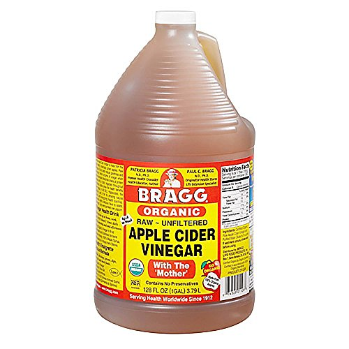 Bragg Organic Apple Cider Vinegar With the Mother – Raw, Unfiltered All Natural Ingredients, 1 Gallon