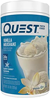 Quest Nutrition Vanilla Milkshake Protein Powder, High Protein, Low Carb, Gluten Free, Soy Free, 25.6 Ounce, 1.6 pound