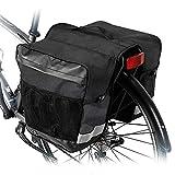 Alforjas para Bicicleta 28L Bolsas Bicicletas Traseras Bolsa Sillín Doble para Bicicleta Alforjas para Portaequipajes de Bicicleta Asiento Trasero Pannier Bag Impermeable para MTB Bicicleta Carretera