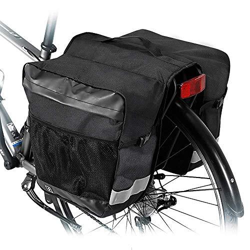 Borsa per Bicicletta 28L Borsa Posteriore Bicicletta Borsa Laterale Doppia da Bici Borse Posteriori Bici Portapacchi Impermeabile Borsa da Sella Porta Pacchi della Bici per Bici da Strada Mountain