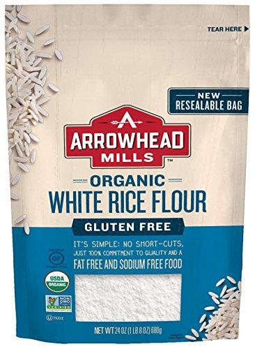 Arrowhead Mills Organic White Rice Flour, Gluten Free, 24 Ounce (Pack of 6)
