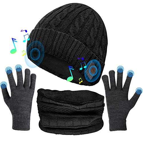 Comfine Gorro de Música, Altavoces Estéreo Incorporados de Gorro Bluetooth, Regalos Tecnológicos...