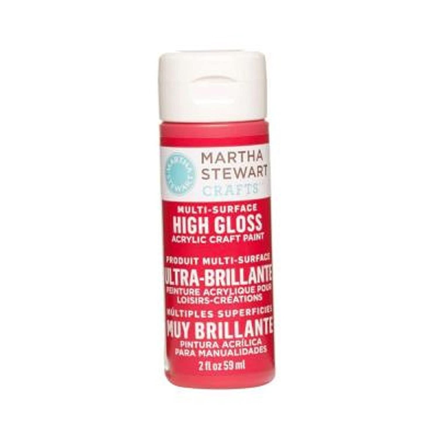 Martha Stewart Crafts Multi-Surface High Gloss Acrylic Craft Paint in Assorted Colors (2-Ounce), 32096 Habanero