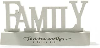Dicksons Family Love One Another 1 Peter 1:22 Resin Stone Tabletop Word Plaque
