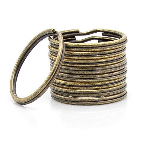 RUBY 120Pcs Metallschlüsselringe geteilt, Bronze Kleine Schlüsselringreifen Ø 30mm, Schlüsselanhänger Ringe