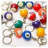 Gzjdtkj Llavero 1 unid al Aleatorio Mini Billar en Forma de Llavero Colorido pequeño Bola Llavero Decoraciones Creativas Colgantes (Color : Digital Number 1)