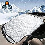 Protector de Parabrisas Protector para Parabrisas Anti Nieve Solar Hielo Cubierta Funda Plegable Parabrisa Delantero Universal Automóviles Láminas de Protección de Coche (Plateado , 147*70cm)