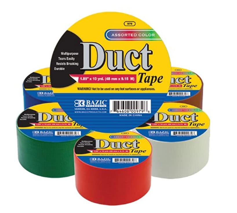 BAZIC Assorted Colored Duct Tape. Heavy Duty Duct Tape for Crafts and Home (1.89