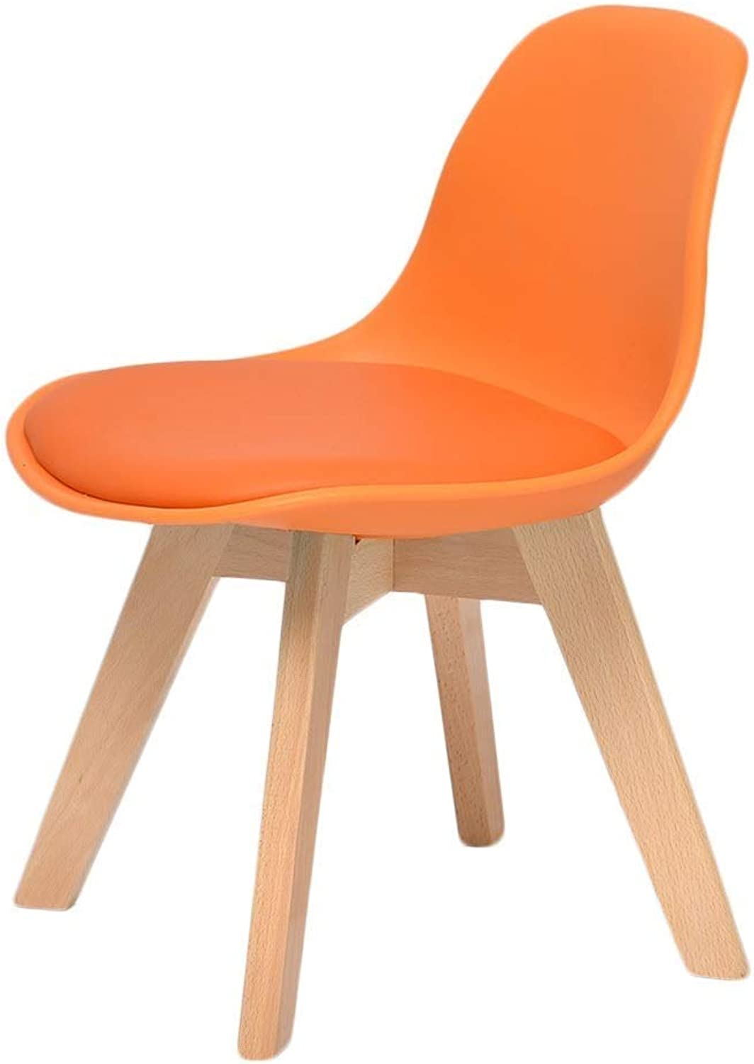 RMJAI Small seat Household Stool Solid Wood Stool Dressing Stool Make-up Stool Cloth Northern Europe Stool Stool Suitable for Living Room Kitchen Bedroom(16.5x12.9x21.6 inches) (color   orange)