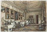 Rudolf Von Alt Giclee Papel de Arte impresión Obras de Arte Pinturas Reproducción de Carteles(Salón en el apartamento del Conde Lanckoronski en Viena) #XZZ