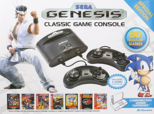 AtGames Sega Genesis Classic Game Console with Wired Controllers