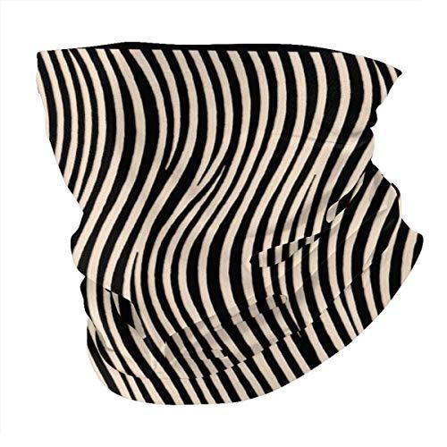 Bandana sin costuras, bufanda para la cabeza, diadema, calentador de cuello, polaina, pasamontañas, edredón de cebra, blanco y negro crudo