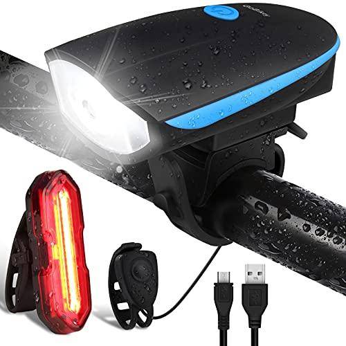 Gobikey Luci Biciclette LED, Anteriore e Posteriore USB Ricaricabile e...