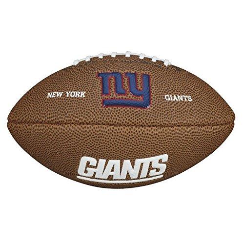Wilson NFL Team Logo Mini New York Giants American Football, Braun, Größe Mini