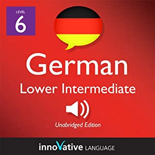 Learn German - Level 6: Lower Intermediate German, Volume 1: Lessons 1-20     Intermediate German #1              By:                                                                                                                                 Innovative Language Learning                               Narrated by:                                                                                                                                 GermanPod101.com                      Length: 4 hrs and 59 mins     2 ratings     Overall 3.5