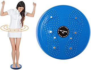 TRIXES Torsion Twist Board Disc- Weight Loss Aerobic Exercise Fitness and Muscle Toning Aid- Colour Blue