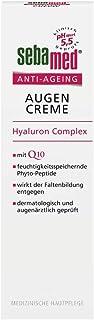 sebamed Anti-Ageing Augencreme Q10, Augenpflege mit Hyaluronsäure & Phyto-Peptiden..